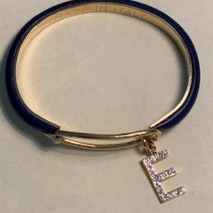 "Jewelry - Made in Italy Initial ""E"" Bangle Bracelet"